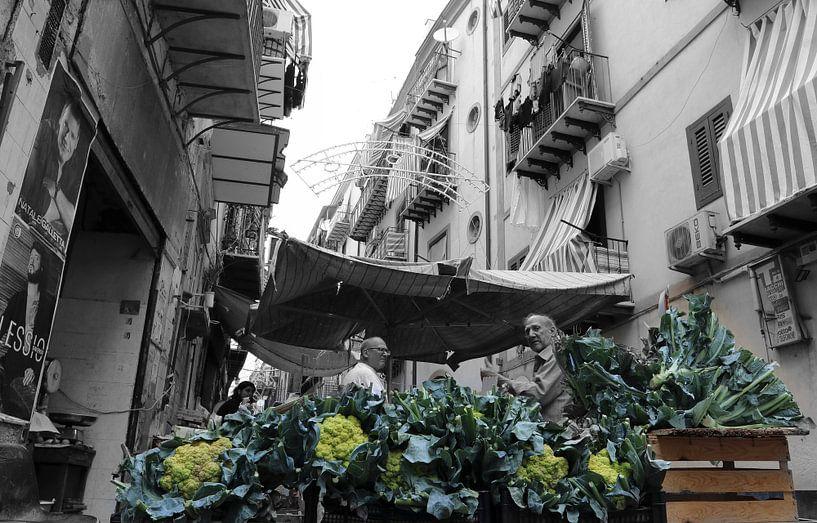 Il Capo  markt in Palermo van Bert Weber