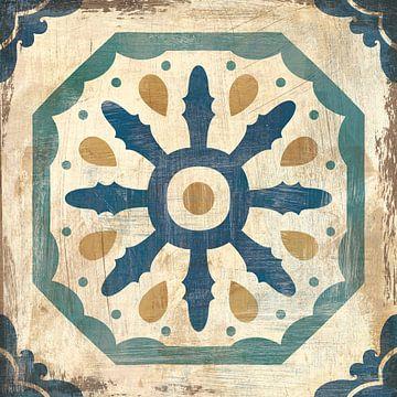 Marokkaanse tegels blauw xi, Cleonique Hilsaca van Wild Apple