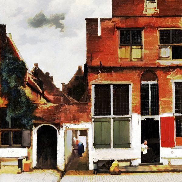 Die kleine Straße (digital bearbeitet) von Theo van der Genugten