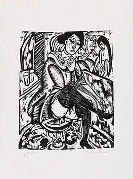 Frau Schuh zuknöpfend, ERNST LUDWIG KIRCHNER, 1912 von Atelier Liesjes