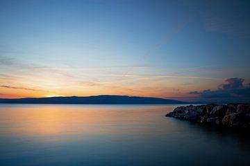 Zonsondergang in Kroatië van Truus Nijland