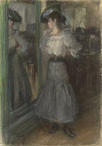 Meisje voor een spiegel, Isaac Israels