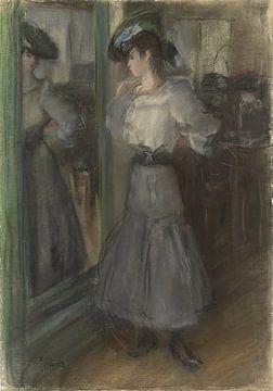Mädchen vor einem Spiegel, Isaac Israëls