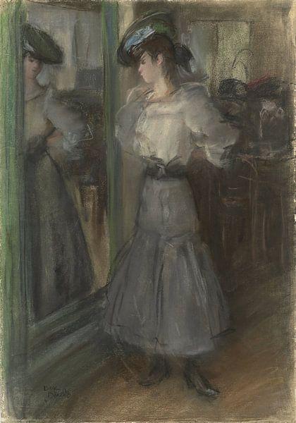 Mädchen vor einem Spiegel, Isaac Israëls von Meesterlijcke Meesters
