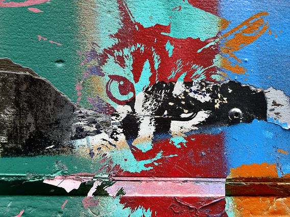 Kattenkunst - Diva 7 van MoArt (Maurice Heuts)