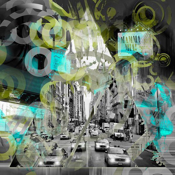 New York City | Geometric Mix No. 6 van Melanie Viola