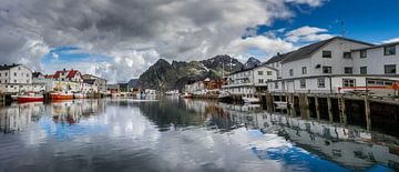 Henningsvær in Noorwegen van Hamperium Photography
