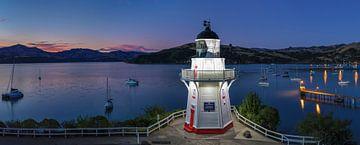 Vuurtoren 's nachts, Banks Peninsula, Nieuw-Zeeland van Markus Lange