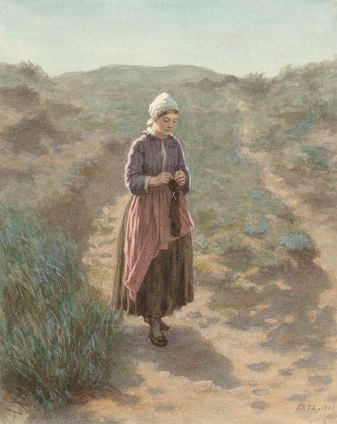 In den Dünen von Zandvoort, David Adolph Constant Artz von Meesterlijcke Meesters