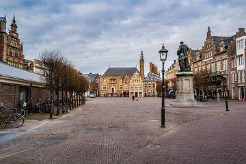 Blick auf das Haarlemer Rathaus | Stille von ErikJan Braakman