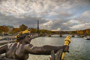 Parijs - Pont Alexandre III - Eiffeltoren van