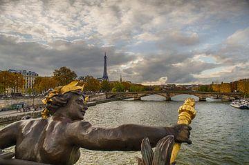 Parijs - Pont Alexandre III - Eiffeltoren van Hannie Kassenaar
