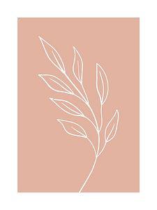 Pink Leaf - Botanische Print