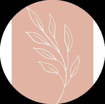 Pink Leaf - Botanische Print van MDRN HOME
