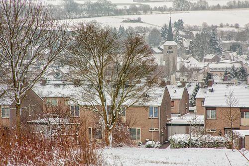 Panorama Simpelveld in de sneeuw