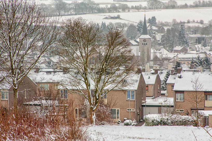 Panorama Simpelveld in de sneeuw van John Kreukniet