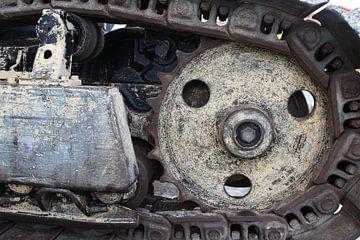 rupsband van een bulldozer van Frans Versteden