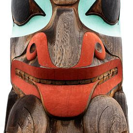 Totempaal portret Canada van Marianne Ottemann - OTTI