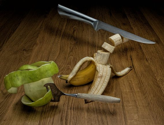 Levitation fruit en bestek