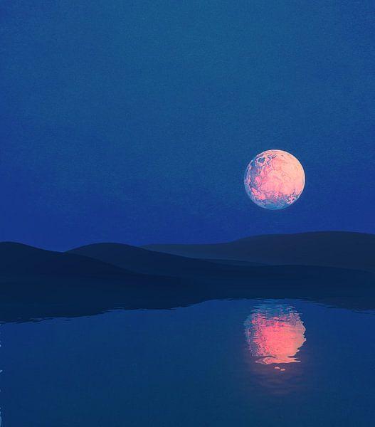 Nuit au clair de lune van Angel Estevez