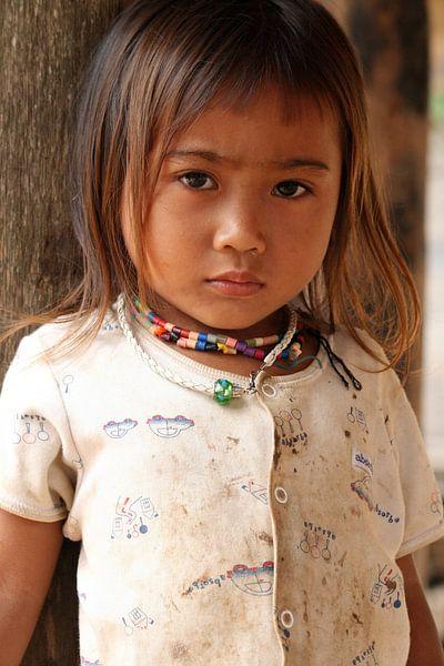 Laotian Girl van Gert-Jan Siesling
