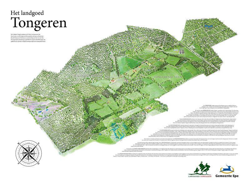 Landkaart van Tongeren - Versie 1 van Wereldkaarten.Shop