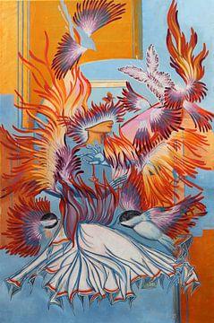 Gerecreëerde Chickadees van Irina Corduban