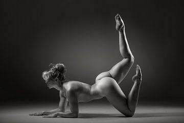 Nackte Frau in Yoga-Pose von Retinas Fotografie