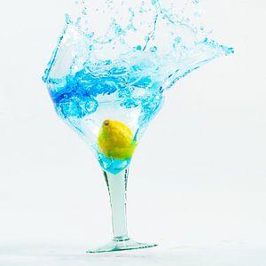 bleu splash van Edwin Hoek