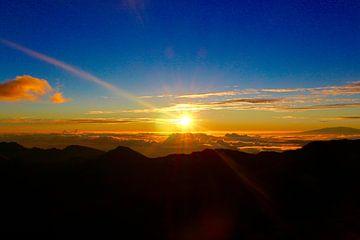 Sonnenaufgang auf dem Haleakala auf Maui, Hawaii von