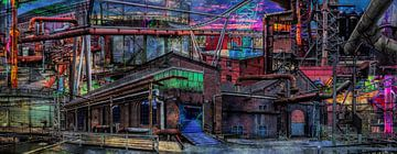 Collage landschaftspark Duisburg van Dennisart Fotografie