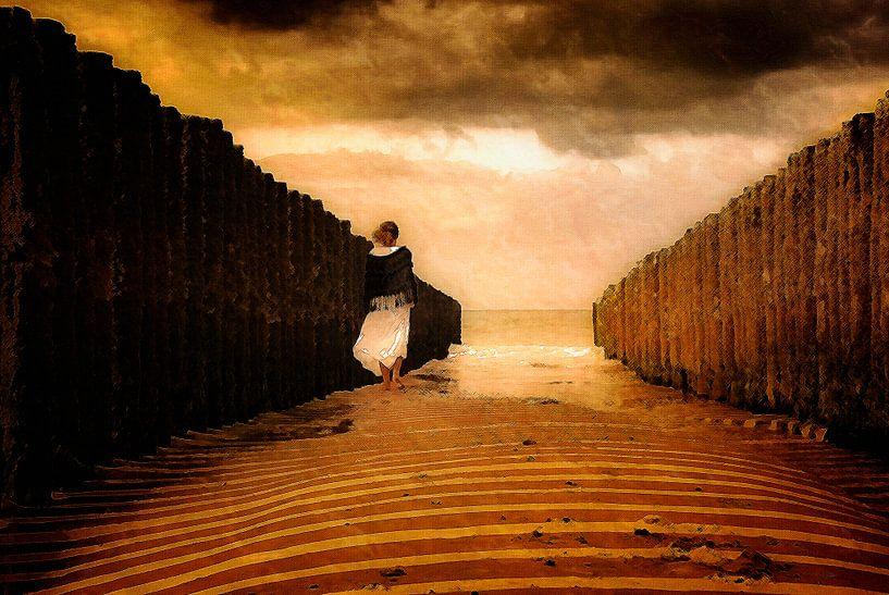 Staring at the ocean van Jacqueline Lodder