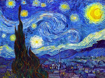 Die sternenklare Nacht - Vincent van Gogh -1889 von Jan Willem van Doesburg