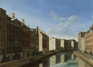 Amsterdam schilderij De Gouden Bocht in de Herengracht in Amsterdam