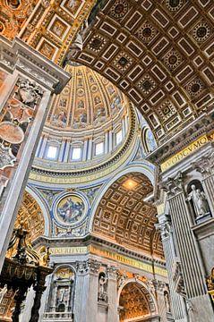 Gewölbe in der Peterskirche im Vatikan von Lars-Olof Nilsson