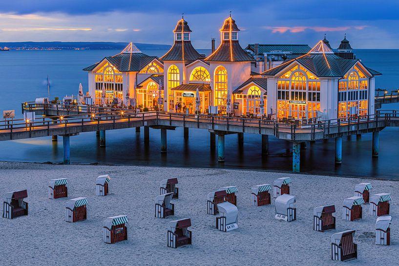 Sunset Sellin Pier, Rügen, Deutschland von Henk Meijer Photography