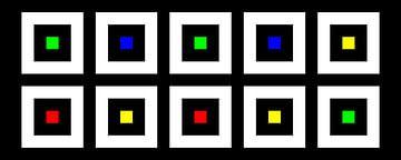 Nested | Center | 05x02 | N=02 | Random #19 | RGBY van Gerhard Haberern