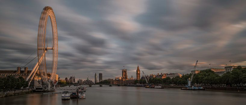 Panorama London at Sunset sur Hans Kool