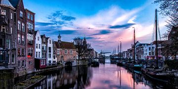 Rotterdam Delfshaven - Zonsondergang van Sylvester Lobé