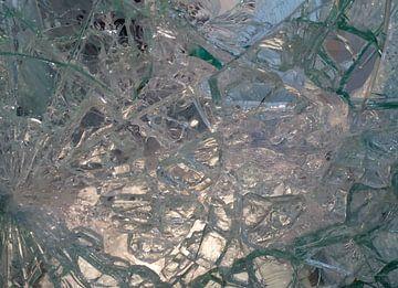 Abstractie van gebroken glas : scherven brengen geluk van