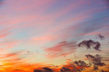 Orangefarbener Sonnenuntergang von Joni Israeli