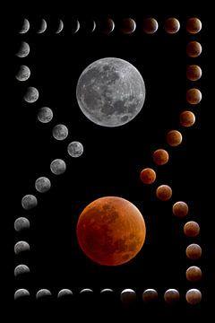 totale maansverduistering van