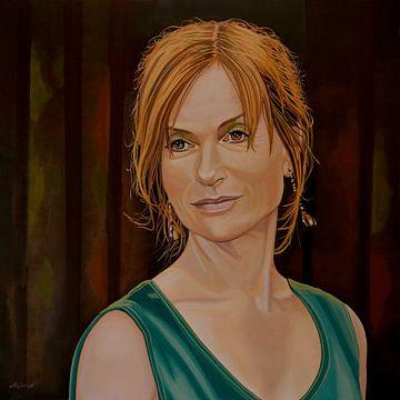 Isabelle Huppert Schilderij von Paul Meijering