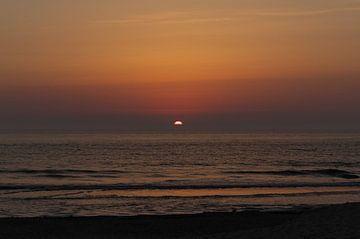 Zonsondergang Texel von Hans Oudshoorn
