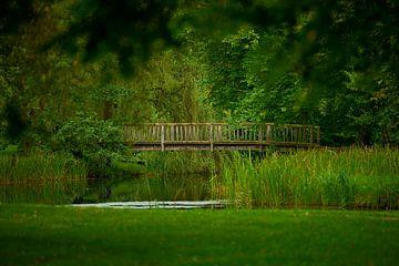Holzbrücke in Ludwigslust von Jenco van Zalk