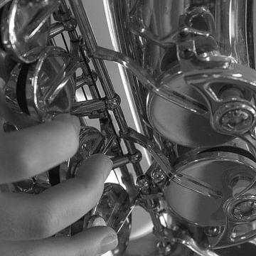 saxofoonspeler von Bianca Muntinga