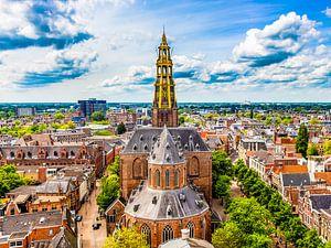 Skyline Groningen met de Der-Aa kerk