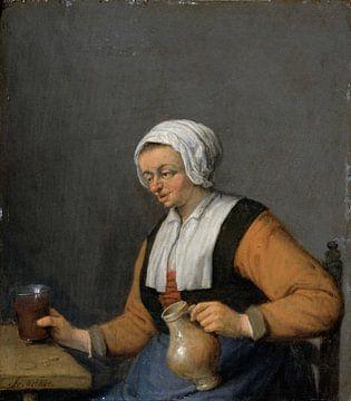 Eine Frau mit einem Bier, Adriaen van Ostade