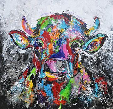 Kuh bunt von Kunstenares Mir Mirthe Kolkman van der Klip