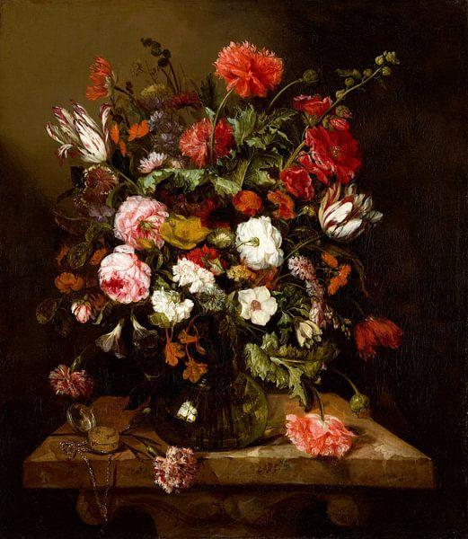 Stilleben von Blumen von Abraham van Beijeren von Gave Meesters